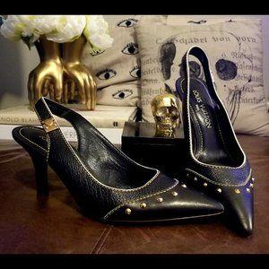 LOUIS VUITTON Suhali Black Slingback Shoes - US 7